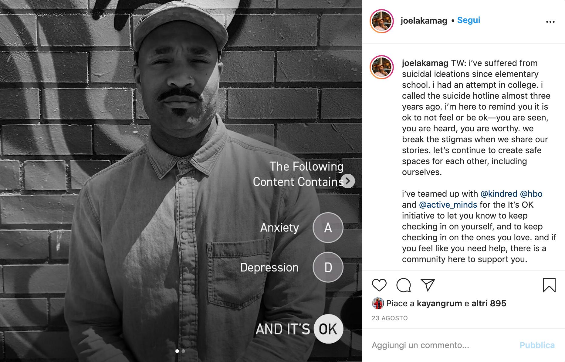 """Influencer parla della sua esperienza dopo aver seguito il corso """"Mental Health 101"""""""