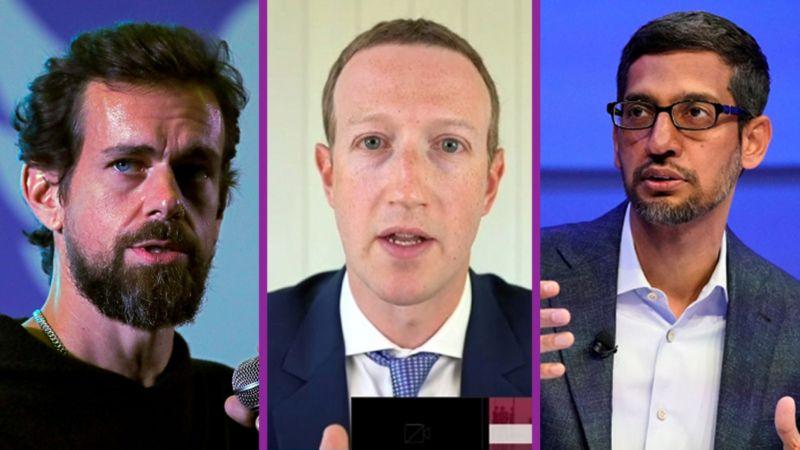 Jack Dorsey di Twitter, Mark Zuckerberg di Facebook e Sundar Pichai di Google chiamati a testimoniare al senato USA