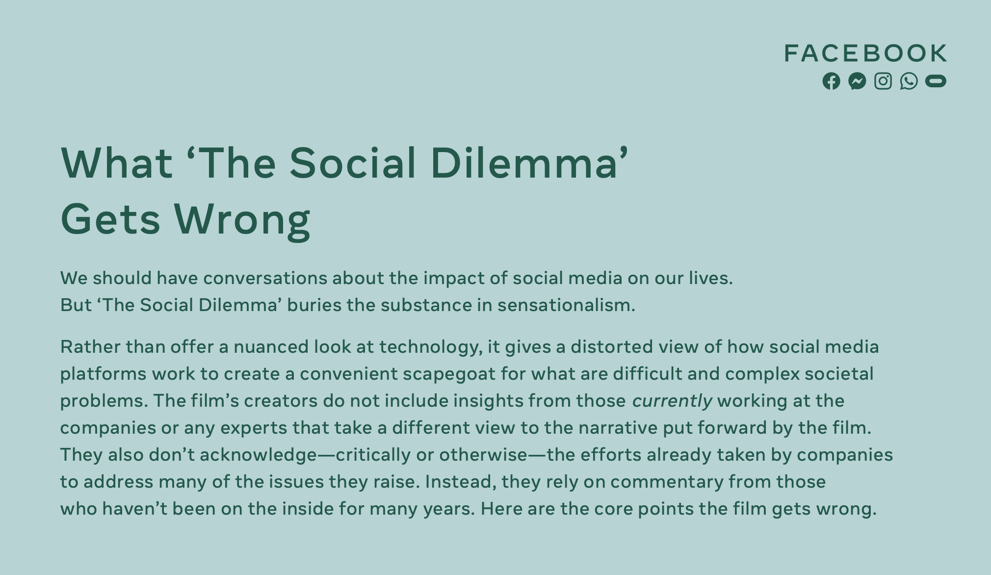 What 'The Social Dilemma' Gets Wrong