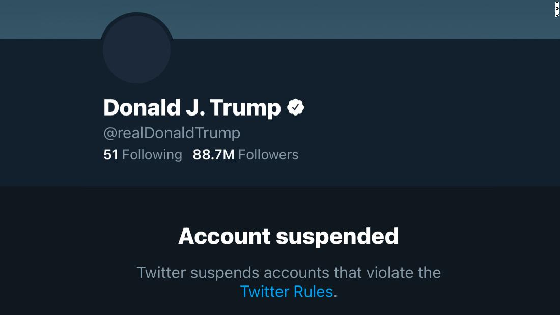 Donald Trump account suspended censura social
