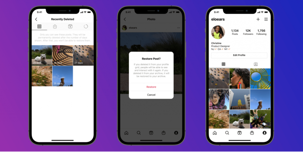 Instagram introduces 'Recently Deleted'