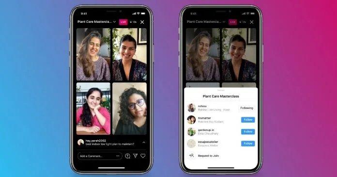 Instagram lancia le Live con 4 partecipanti e Facebook compete con Clubhouse