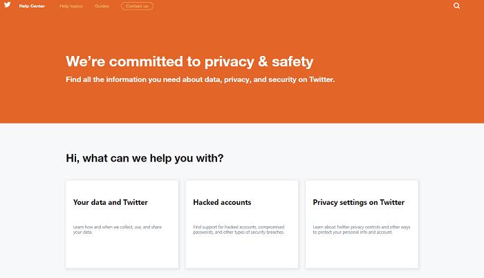 twitter online dati privacy