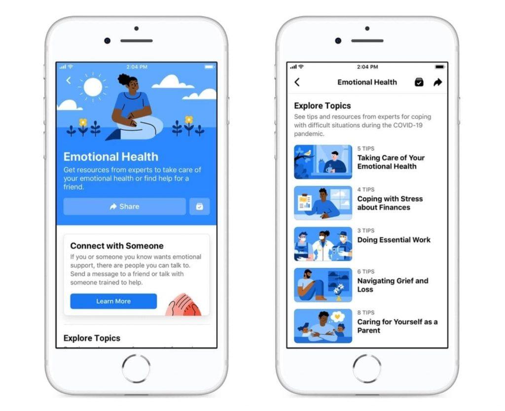 Facebook Mental Health Resource Center
