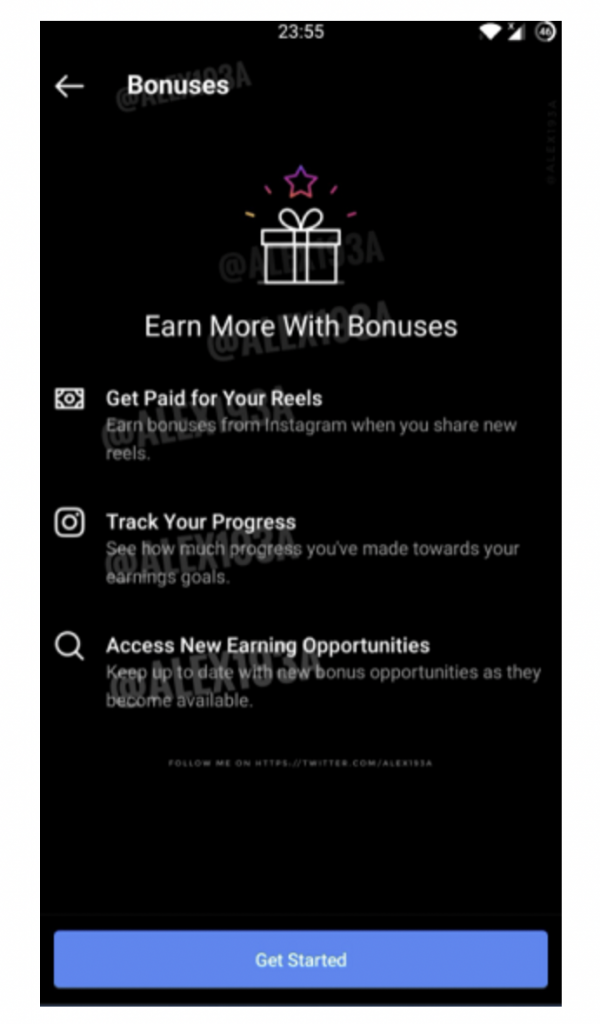instagram lancia novità: bonuses payment