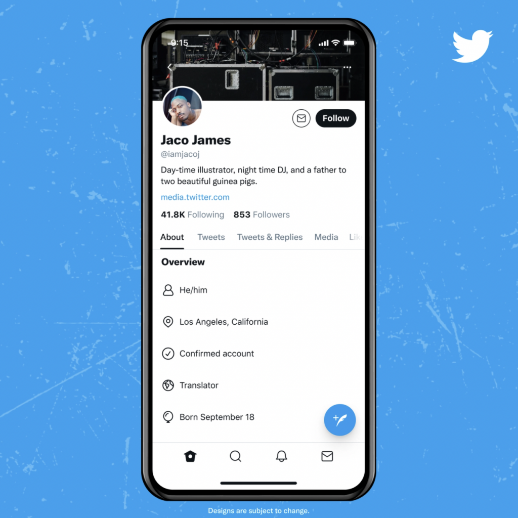 twitter revamp about tab