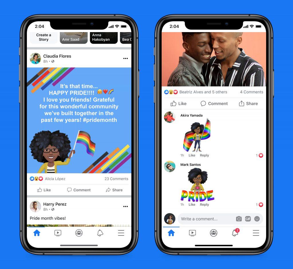 I mokup dei prodotti per Pride Month Facebook
