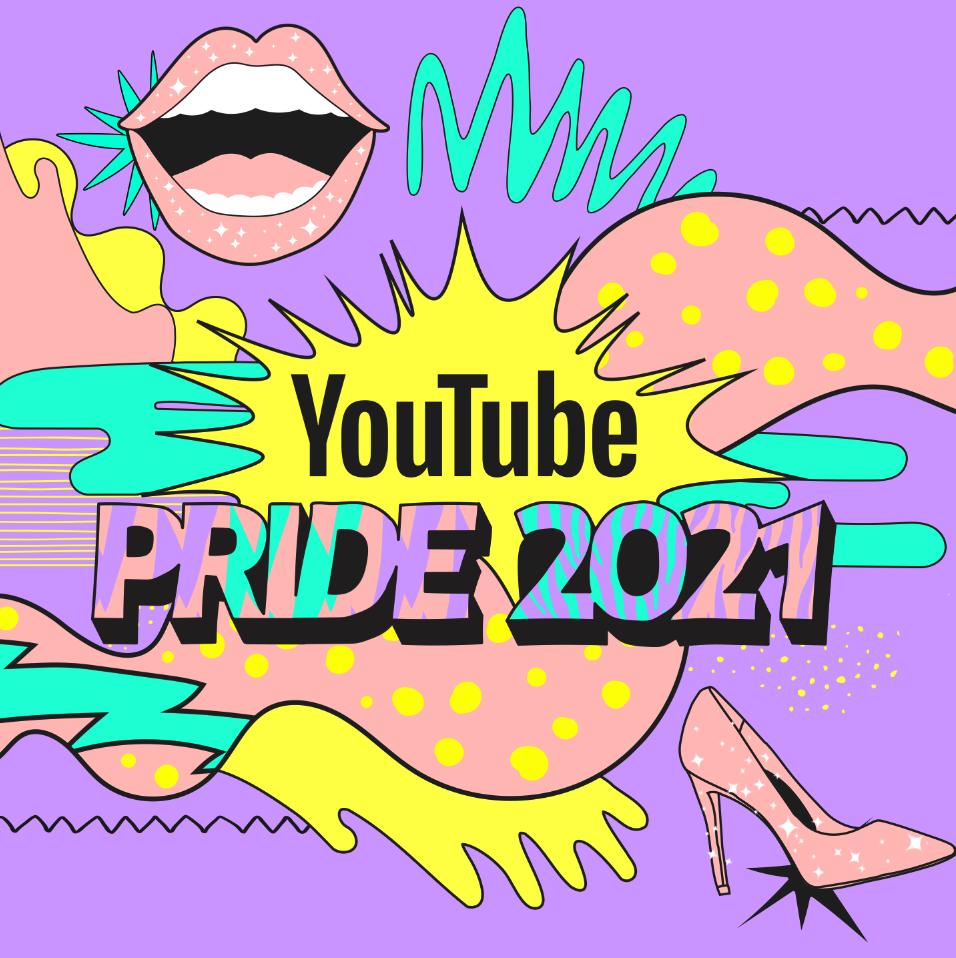 Logo YouTube Pride 2021