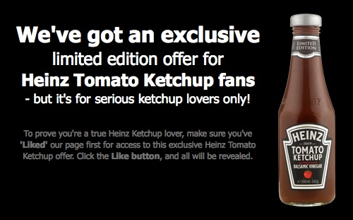 Heinz Tomato Ketchup limited edition Facebook launch