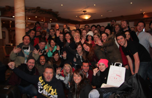 Our team at this year's ski trip. Trust us when we say it was epic.